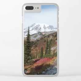 Slops of Mt. Rainier Clear iPhone Case