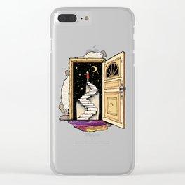 Behind The Door Clear iPhone Case