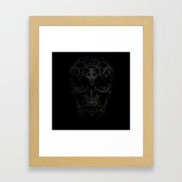 Skulls Black Framed Art Print