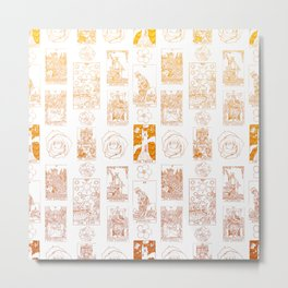Beautiful Golden Tarot Card Print Metal Print