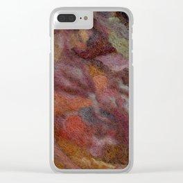 Warm earthy woolen mosaic Clear iPhone Case