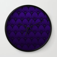 Variations on a Feather II - Raven Wing Wall Clock