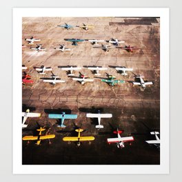 Squadron of Bush Pilots, Alaska Art Print