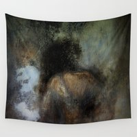 imagerybydianna Wall Tapestries featuring among her declining days by Imagery by dianna