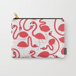 Preppy Pink Flamingos Pattern Carry-All Pouch