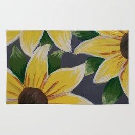 Handmade Sunflower Painting Rug