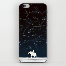 Falling star constellation iPhone Skin