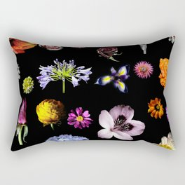 Floral Fusion Rectangular Pillow