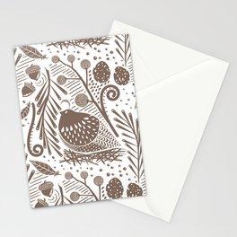 California Quail (Cocoa) Stationery Cards