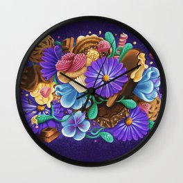 SWEETS & FLOWERS Wall Clock