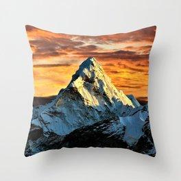 Mount Everest Throw Pillow