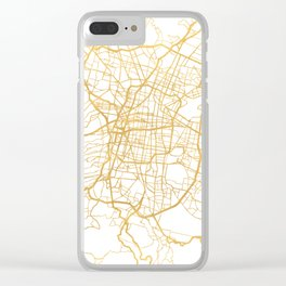 MEXICO CITY MEXICO CITY STREET MAP ART Clear iPhone Case