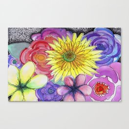 floral bouquet Canvas Print