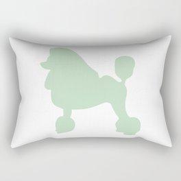 Poodle wall art print Rectangular Pillow