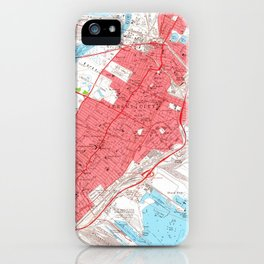 Vintage Map of Jersey City NJ (1955) 2 iPhone Case