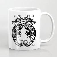 sea horse Mugs featuring Sea Horse by ceceï