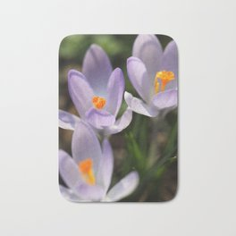 Crocus flowers Bath Mat