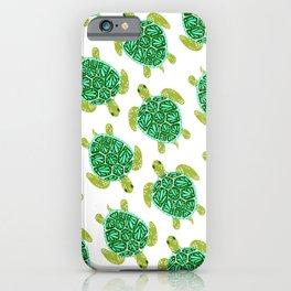 Sea Turtle – Green Palette iPhone Case