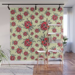Lady Bugs pattern Wall Mural