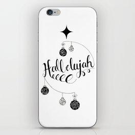 "Hand Written Holiday Themed ""Hallelujah"" iPhone Skin"