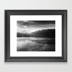Morning Lake Framed Art Print
