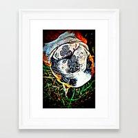 english bulldog Framed Art Prints featuring English Bulldog by Ridgerunner64