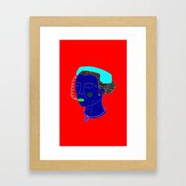 Anxious Lady Framed Art Print
