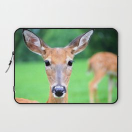 Big Brown Eyes   Deer Laptop Sleeve