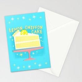 All American Classic Lemon Chiffon Cake Stationery Cards