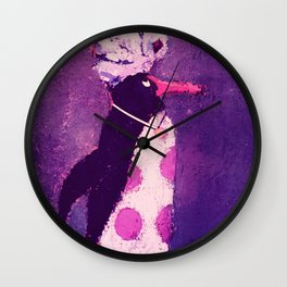Polly's Painting Wall Clock