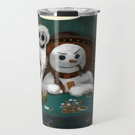Holiday Horrors Playing Poker Travel Mug