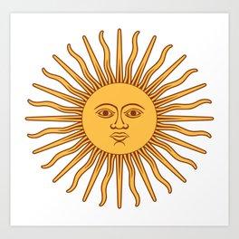 Argentina Flag Sun Art Print