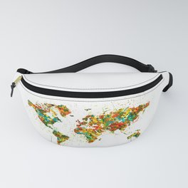 Map of the World watercolor Fanny Pack