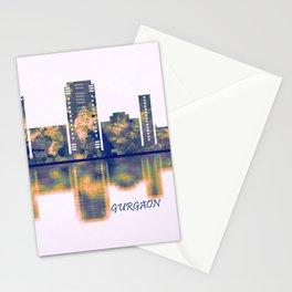 Gurgaon Skyline Stationery Cards