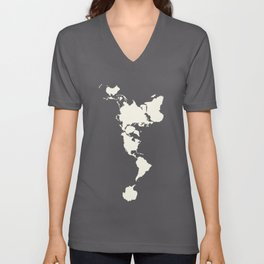 Dymaxion Map of the World Unisex V-Neck