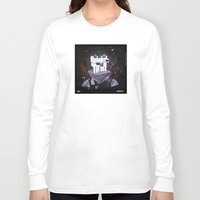 planet of the apes Long Sleeve T-shirts featuring Meteoric Apes by Tom Bryce