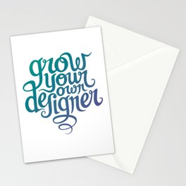 Grow Your Own Designer Stationery Cards