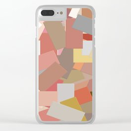 Coral Blocks 5050 Clear iPhone Case