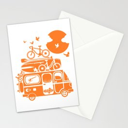 Funny family vacation camper Stationery Cards