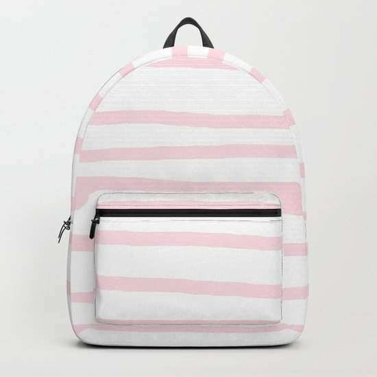 Simply Drawn Stripes in Pink Flamingo Backpack