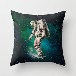 Space Ride Throw Pillow