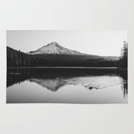 Wild Mountain Sunrise - Black and White Nature Photography Rug