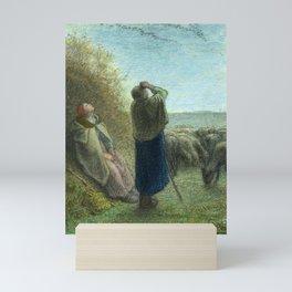 """Jean-François Millet """"Le Passage des oies sauvages - The Passage of wild geese"""" Mini Art Print"""