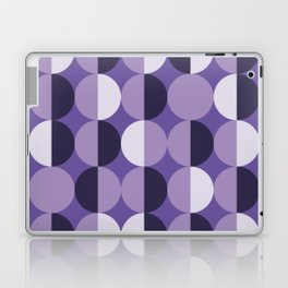 Retro circles grid purple Laptop & iPad Skin