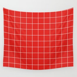 Cherry Grid Wall Tapestry