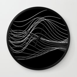 Lines // Waves Wall Clock
