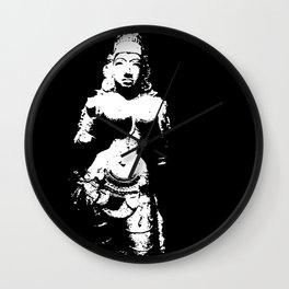 Stone goddess in white Wall Clock