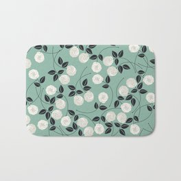 Pattern with white roses Bath Mat