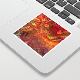 Acrylic Pour #45 Lava-Love Sticker