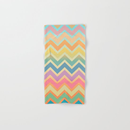 Summer-color Chevron Hand & Bath Towel